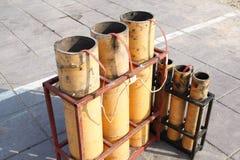 Фейерверки фейерверков после взрывать стоковое фото rf