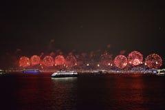 Фейерверки Copacabana Стоковое Изображение