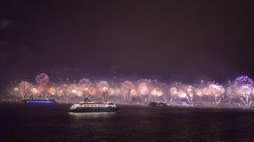 Фейерверки Copacabana Стоковые Фотографии RF