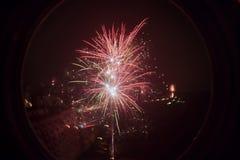 ФЕЙЕРВЕРКИ NYE Бухарест 2015 2016 Стоковое Изображение
