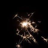 Фейерверк бенгальского огня на черной предпосылке Польза для рождества стоковые изображения rf