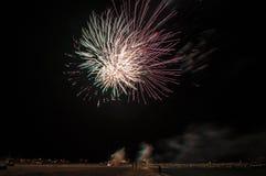 Фейерверк в небе Стоковая Фотография