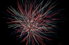 Фейерверк в небе Стоковые Фотографии RF