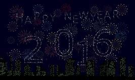 фейерверк 2016 Стоковое Изображение RF