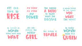 Феминист цитаты литерности бесплатная иллюстрация