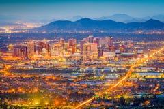 Феникс, Аризона, городской пейзаж США стоковое фото rf