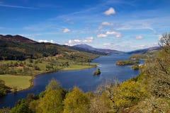 Ферзи осматривают на Loch Tummel Стоковая Фотография