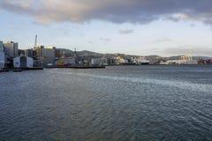 Ферзи причал, Окленд в Новой Зеландии стоковое фото