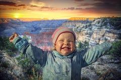 Ферзь гранд-каньона, США девушки Стоковое Изображение RF
