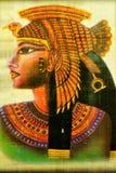 Ферзь Cleopatra папируса египетский, известная женщина древности стоковая фотография