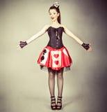 ферзь s девушки costume карточки стоковое фото rf