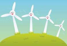 Ферма ветрянки Стоковая Фотография
