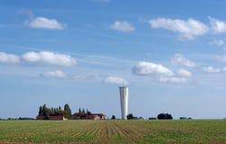 Ферма водонапорной башни и hurepoix Стоковая Фотография