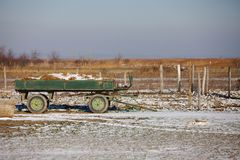 Ферма в зиме Стоковые Изображения RF