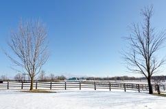 Ферма в зиме Стоковое Изображение RF