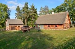 Ферма в под открытым небом музее в Olsztynek (Польша) Стоковые Изображения