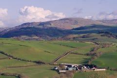 Ферма в сельской местности Welsh Стоковое Изображение