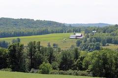 Ферма в холмах Стоковые Фото