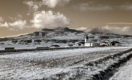 Ферма Исландии в инфракрасном Стоковые Изображения RF