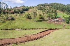 Ферма и гора Стоковые Фотографии RF