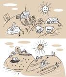 Ферма и земледелие бесплатная иллюстрация