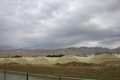Ферма и огорода и парники около мертвого моря Стоковое фото RF