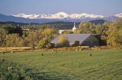 Ферма и поля, CO Стоковые Фото
