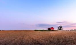 Ферма Мэриленда с красным амбаром Стоковое фото RF