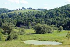 Ферма на холме Стоковые Изображения RF