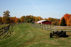 ферма осени Стоковое Изображение RF