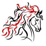 Ферма лошади Head иллюстрация штока