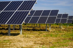 Ферма панели солнечных батарей Стоковое Изображение