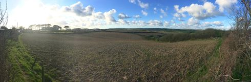 ферма панорамная стоковая фотография rf