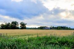Ферма под облаком (к северу от Торонто) Стоковое Изображение RF