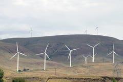Ферма силы ветротурбины Стоковое Изображение