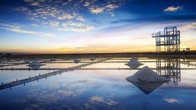 Ферма соли в Tainan Тайване Место также довольно популярное туристское назначение стоковое изображение