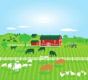 Ферма с животными бесплатная иллюстрация