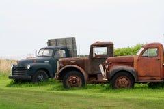 Ферма трио красочная старая античная перевозит сельское NY на грузовиках Стоковые Изображения RF
