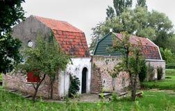Ферма Culemborg старая как раз около стены города Стоковая Фотография