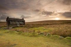Ферма Dartmoor Девон Великобритания монашек перекрестная Стоковая Фотография RF
