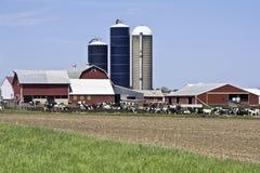 ферма wisconsin стоковая фотография rf