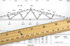 ферменная конструкция диаграммы стоковое фото rf