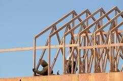 Ферменная конструкция крыши Стоковое фото RF