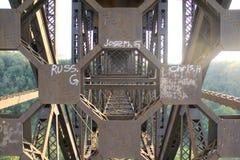 Ферменная конструкция моста Стоковое Фото