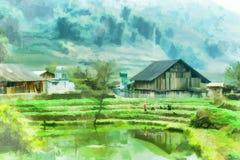Фермеры с сельским хозяйством шага Стоковые Изображения