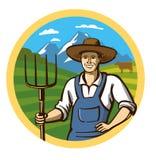 Фермер цвета вектора Стоковые Изображения