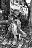Фермер, человек в сельской местности Австралии Стоковое Фото