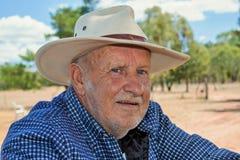 Фермер, человек в сельской местности Стоковые Изображения
