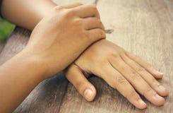 Фермуар руки Стоковые Изображения