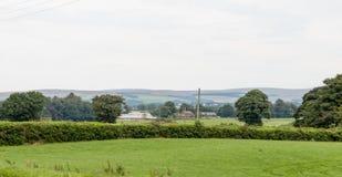 Фермы Lancashire и холм зимы стоковые фото